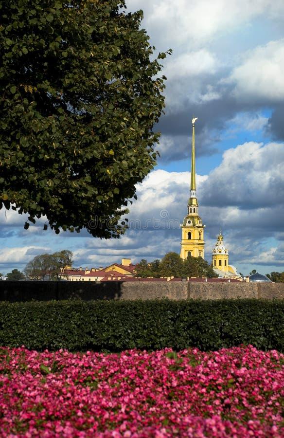 Peter-und Paul-Festung in St Petersburg stockbild