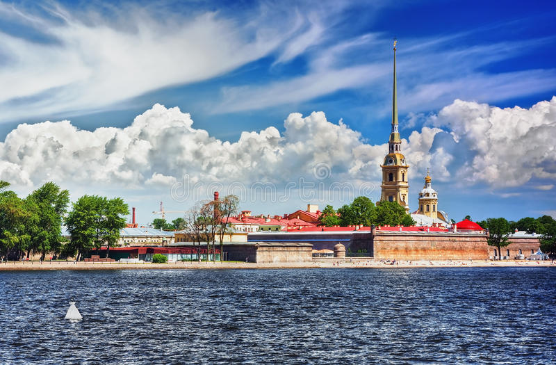 Peter y Paul Fortress, St Petersburg fotografía de archivo