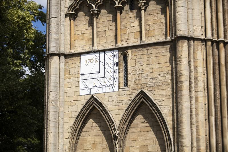 Peterborough, Cambridgeshire, Reino Unido, em julho de 2019, uma vista da catedral de Peterborough imagens de stock