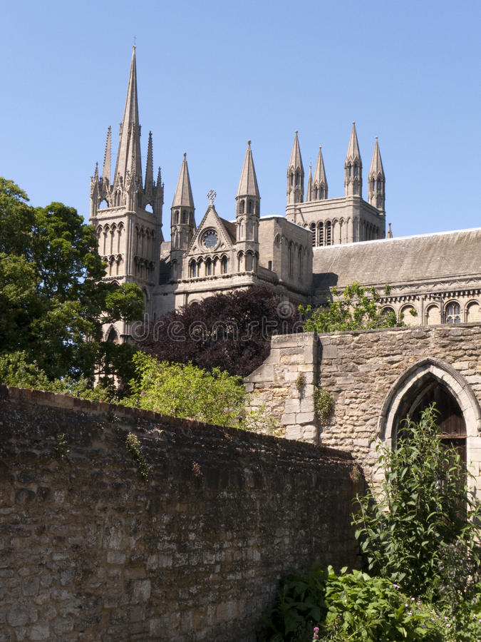 Peterborough Cathedral royalty free stock photos