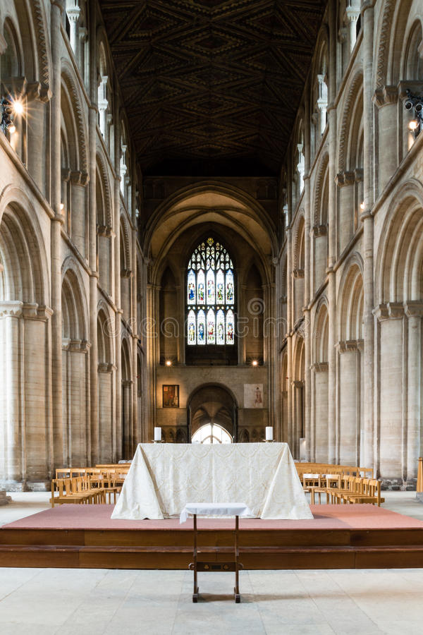 Peterborough Cathedral Altar Nave stock photos