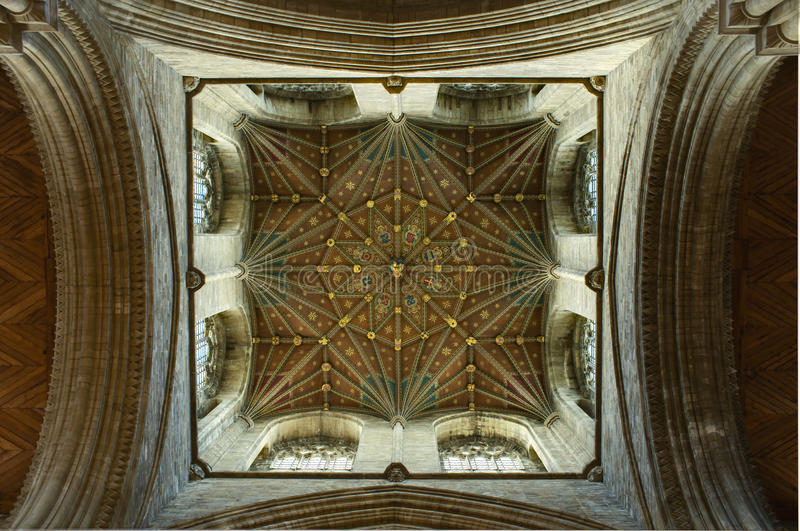 Peterborough Cathedral Ceiling Detail royalty free stock photos