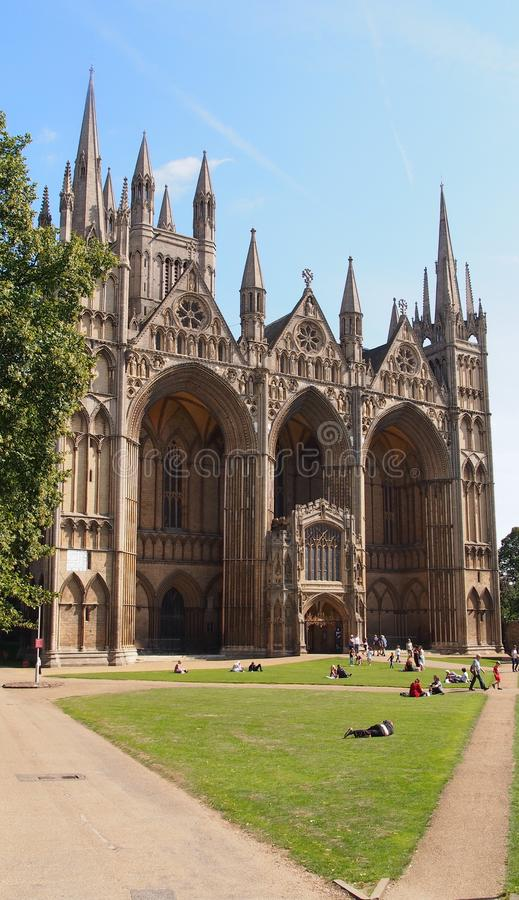 Peterborough Cathedral, England royalty free stock photo