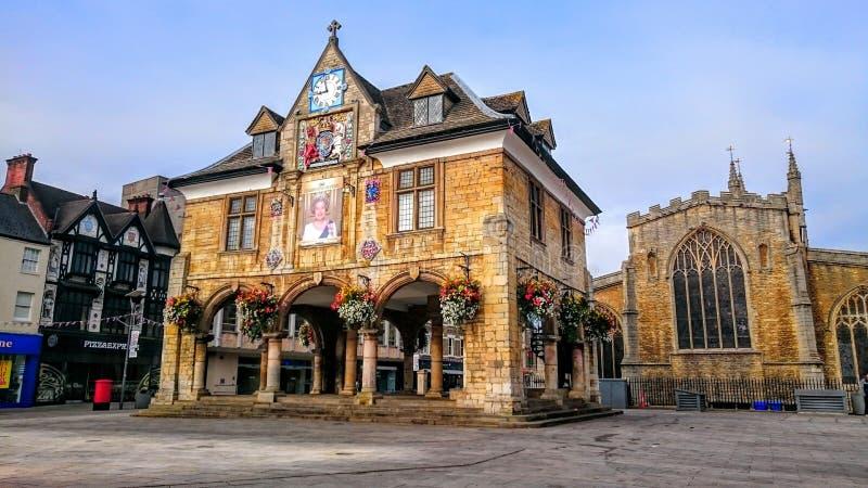 Peterborough domkyrkafyrkant arkivfoto