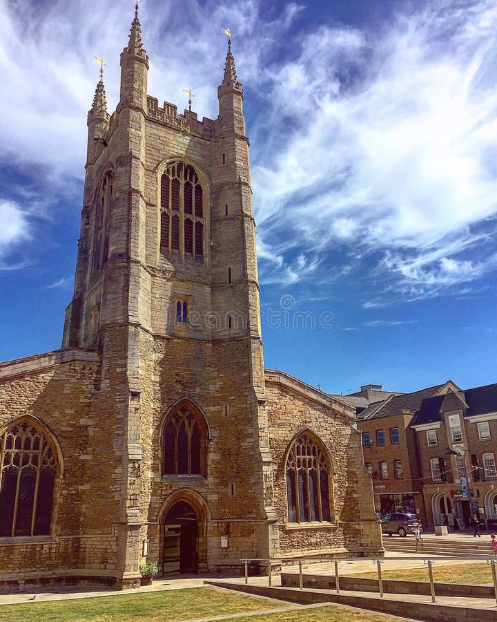 Peterborough domkyrkalandskap arkivbilder