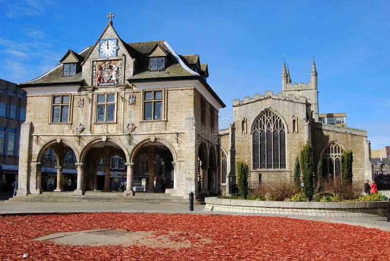 Peterborough skrå Hall royaltyfria foton