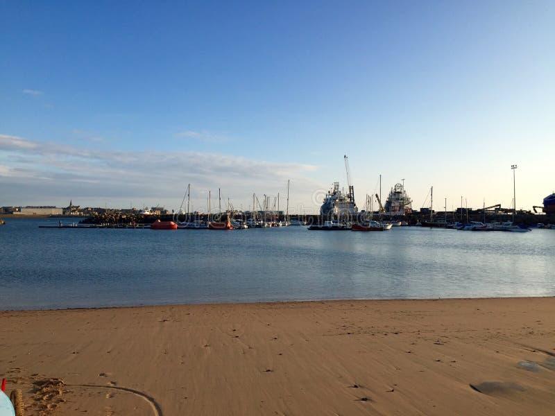 Peterhead海湾 库存照片