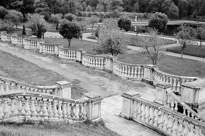 Peterhof宫殿 金星庭院的墙壁在更低的公园圣彼德堡, 免版税图库摄影