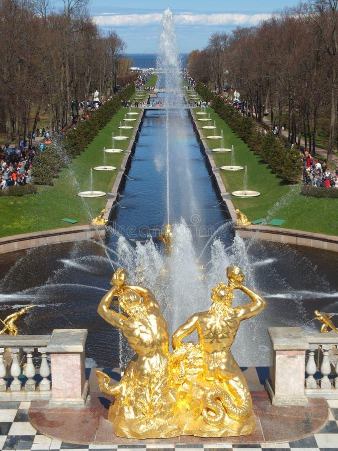 Download Peterhof Brunnenfrühling stockbild. Bild von schönheit - 26353041