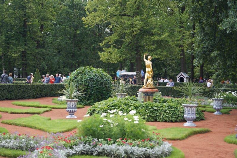 Peterhof garden royalty free stock photos