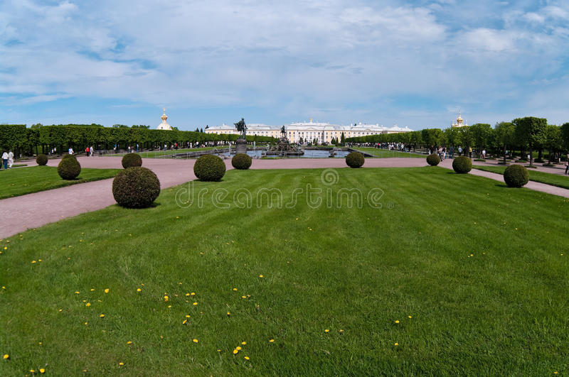 The Peterhof Grand Palace in Russia royalty free stock image