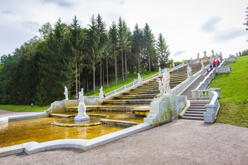 Peterhof het lopen park royalty-vrije stock afbeelding