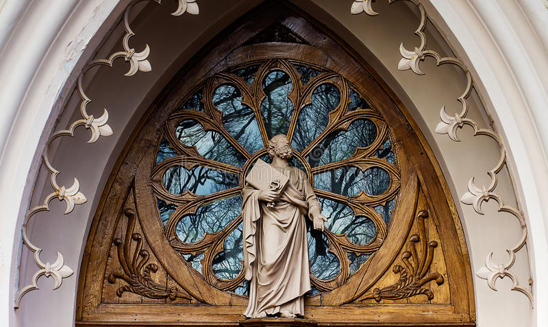 peterhof kaplicy gothic Kościół St Aleksander Nevsky zdjęcie royalty free