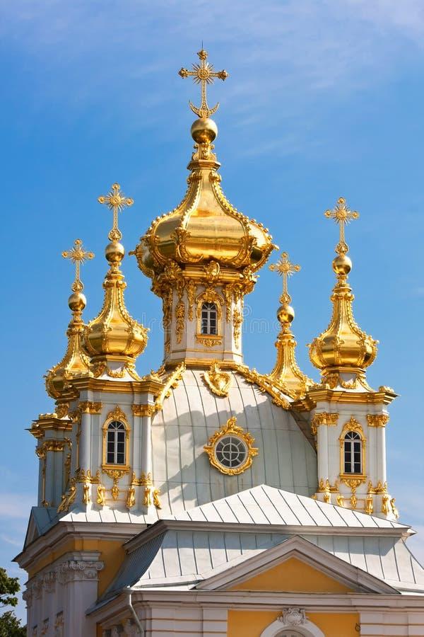 Peterhof pałac kościół obraz royalty free