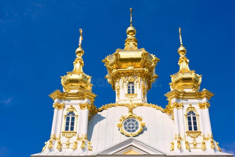 Peterhof pałac kościół zdjęcie royalty free