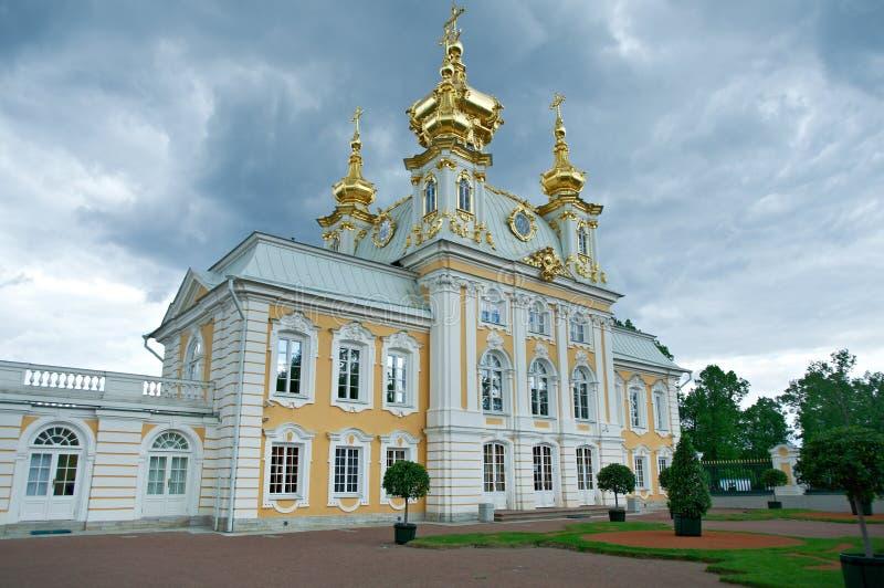 Peterhof pałac Paul kościelne święta Petera fotografia royalty free