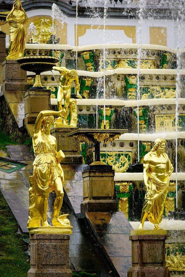 Peterhof pałac w świętym Petersburg, Rosja obraz stock
