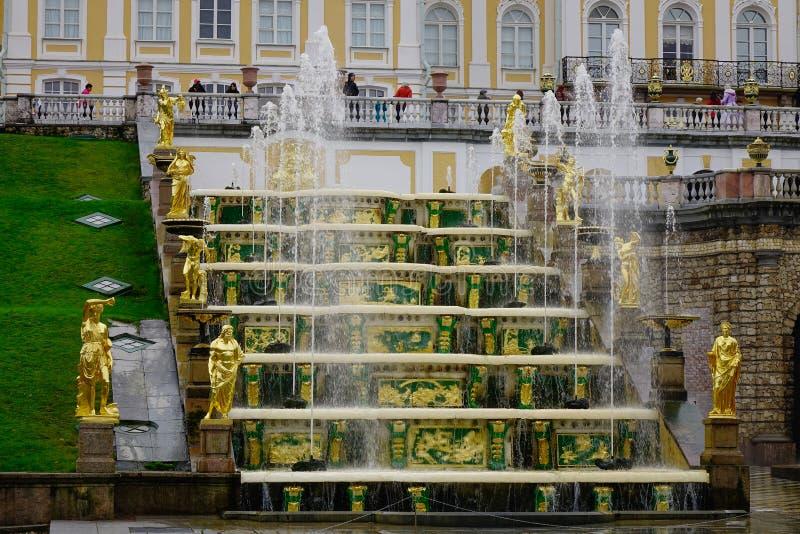Peterhof pałac w świętym Petersburg, Rosja obrazy royalty free