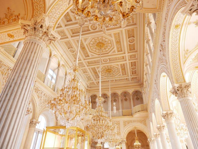 Peterhof pa?ac ?wi?ty Petersburg Rosja obrazy royalty free