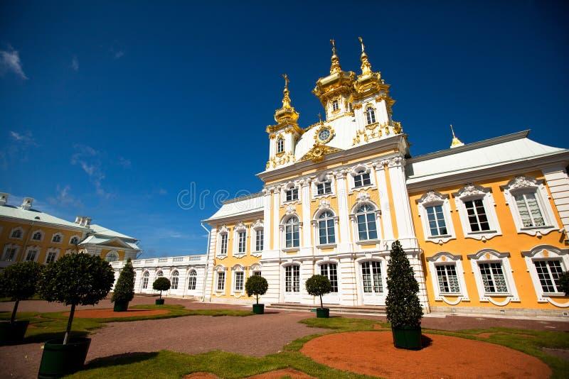 Peterhof Palace near St. Petersburg royalty free stock photos