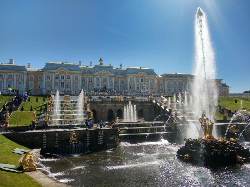 Peterhof, Saint Petersburg Russia stock photo