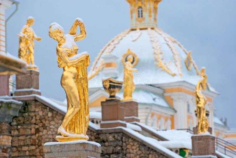 Peterhof Rússia Venus Kallipygos Sculpture fotos de stock