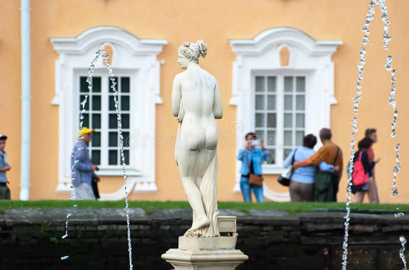 Peterhof Rusland Venus Italica Sculpture royalty-vrije stock afbeelding