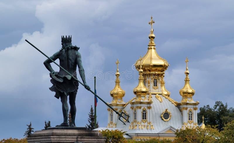 Peterhof in Russia. Grand Peterhof Palace in Saint Petersburg, Russia stock images