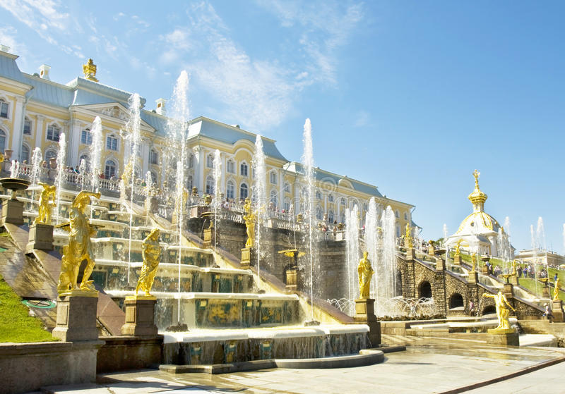 Peterhof, Russie photo libre de droits
