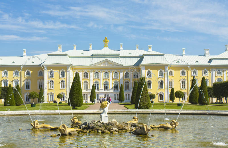 Peterhof, Russie photo stock