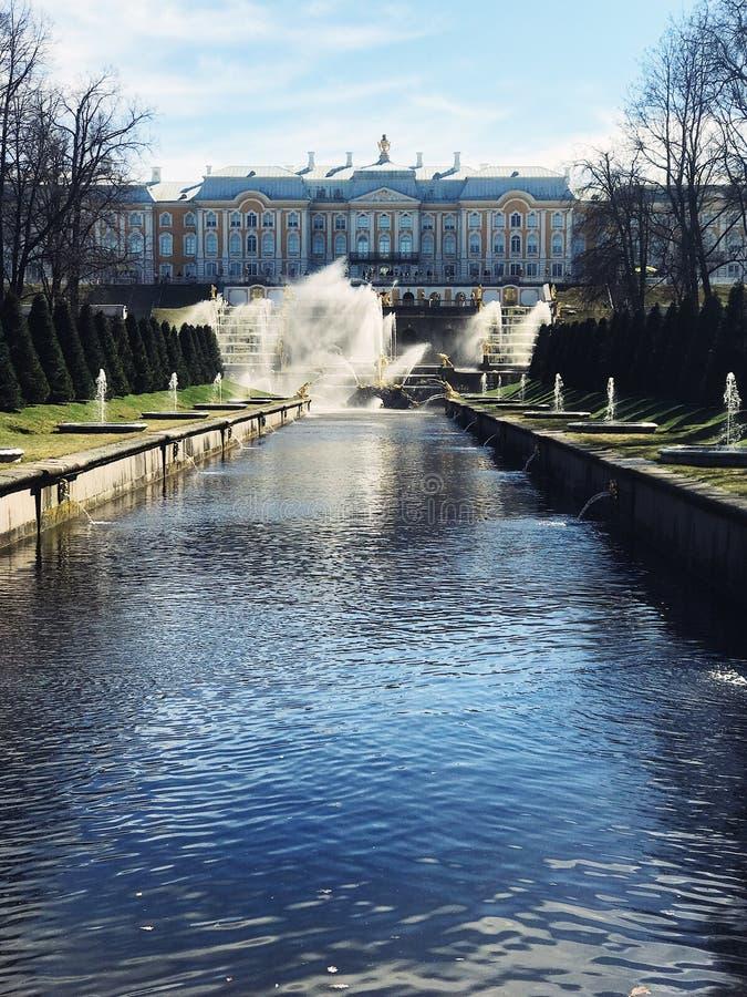 Peterhof sikt arkivfoton