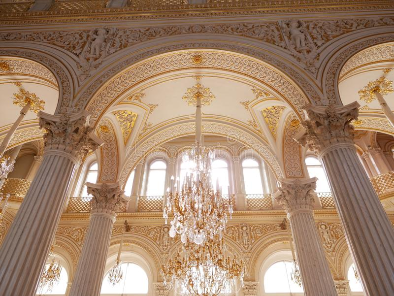 Peterhof slott St Petersburg Ryssland arkivfoton