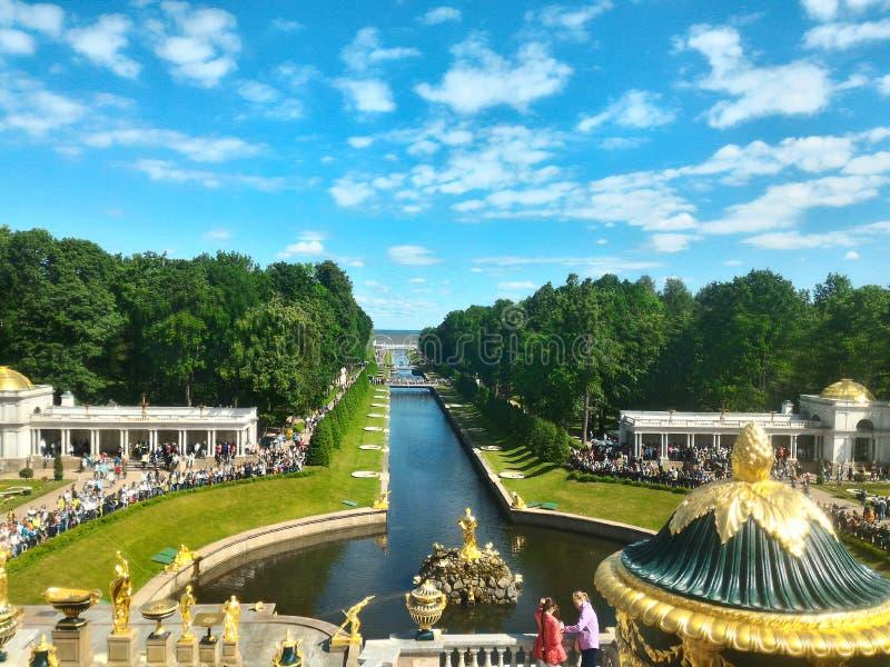 Peterhof - St Pertur royalty-vrije stock foto