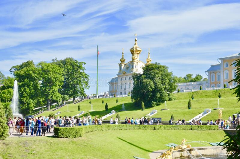 Peterhof, summer residence of Peter the Great. stock image