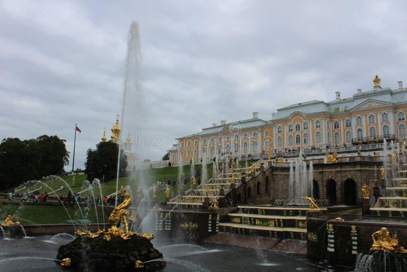 Peterhoff pałac, święty Petersburg fotografia stock