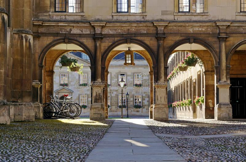 Peterhouse, Cambridge, Chapel Cloisters And Old Court. A view of the University of Cambridge's oldest college, Peterhouse, as seen from Trumpington Street stock images