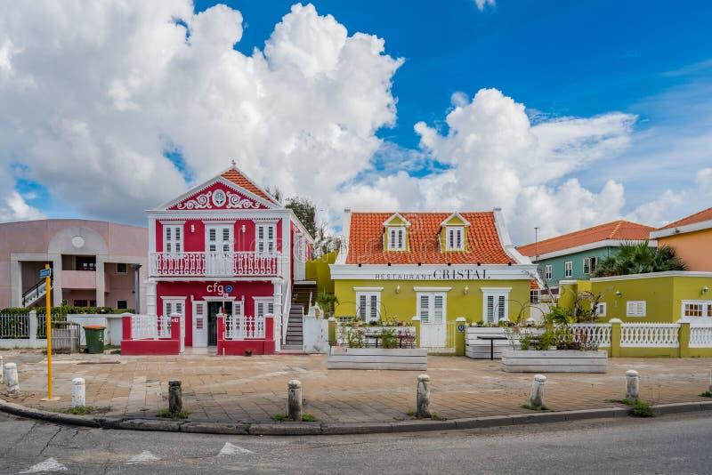 Petermaai, district Willemstad, Curacao stock foto's