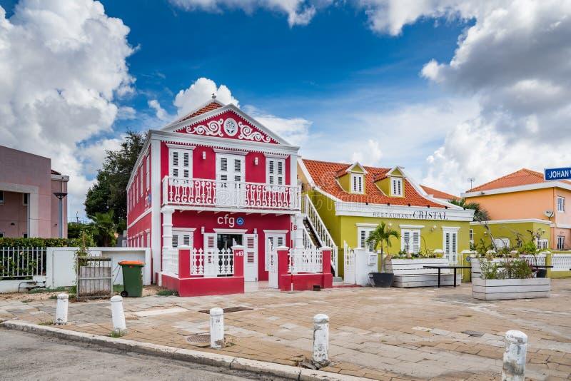Petermaai, distrito de Willemstad, Curacao fotografia de stock royalty free