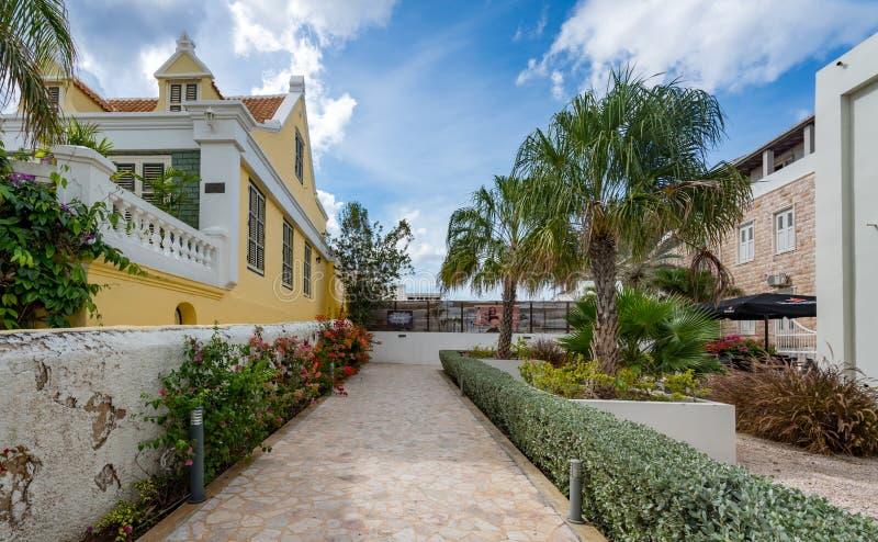 Petermaai, distrito de Willemstad, Curacao imagens de stock royalty free
