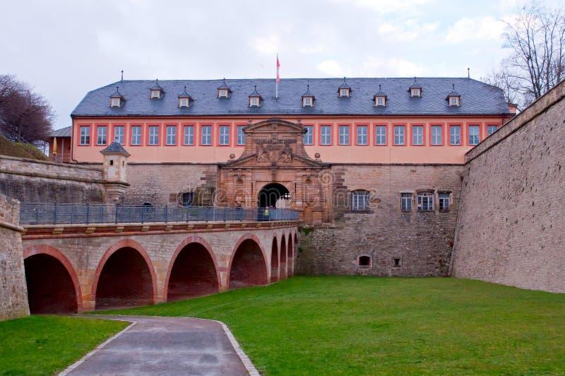 Petersberg Citadel in Erfurt, main entrance. Main entrance of Petersberg Citadel in Erfurt, Germany royalty free stock photo