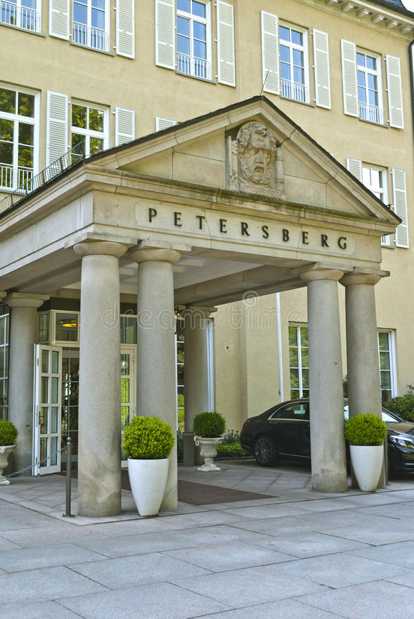 Petersberg. GERMANY - 01.06.2014 : Entrance to the Hotel on June 01, 2014 in , Germany. Hotel  is a hotel and official guest house of the Federal Republic of stock image