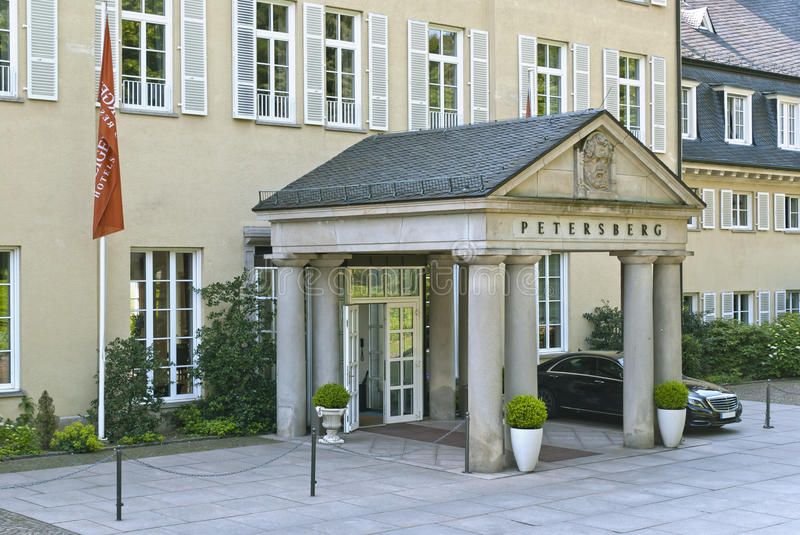 Petersberg. GERMANY - June 01 2014 : Entrance to the Hotel on June 01, 2014 in , Germany. Hotel , a hotel and official guest house of the Federal Republic of royalty free stock photo