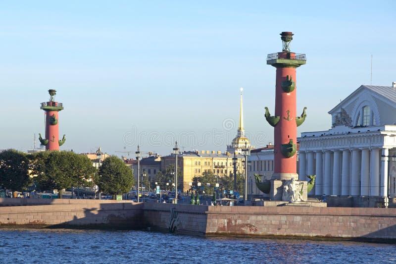 petersburg bridżowy okhtinsky święty Russia obrazy royalty free