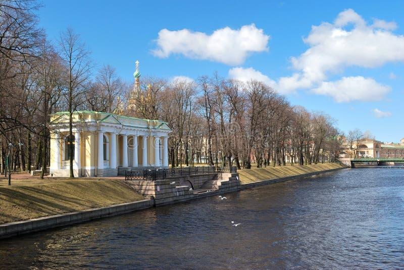 petersburg ogrodowy mikhailovsky st zdjęcia royalty free