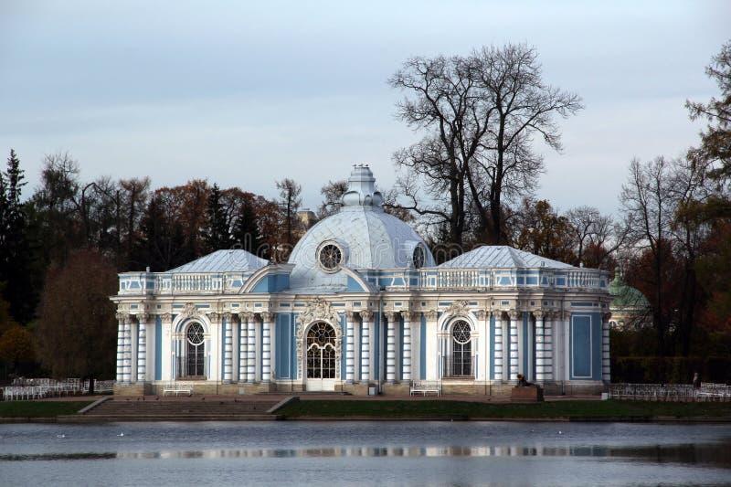 Petersburg pushkin Catherine 24 km imperiału park szlachetności Petersburgu centrum pobyt rodzinny poprzedniego rosyjskiego selo  zdjęcia stock