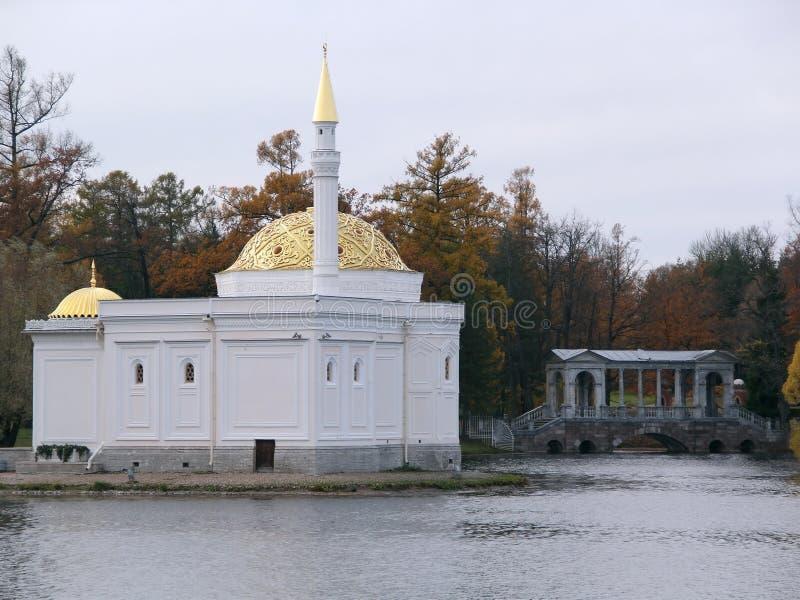 Petersburg pushkin Catherine 24 km imperiału park szlachetności Petersburgu centrum pobyt rodzinny poprzedniego rosyjskiego selo  obrazy royalty free