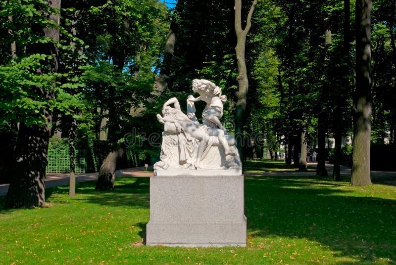 Petersburg Rosja Amorek i duszy rzeźba fotografia royalty free