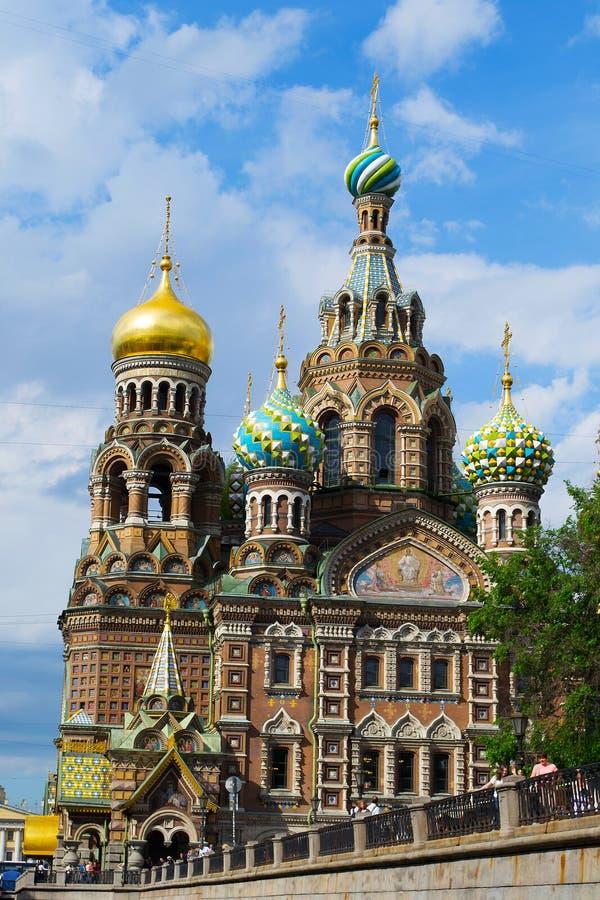 Petersburg Rosja, Czerwiec, - 02, 2016: Świątynia wybawiciel na krwi obrazy royalty free