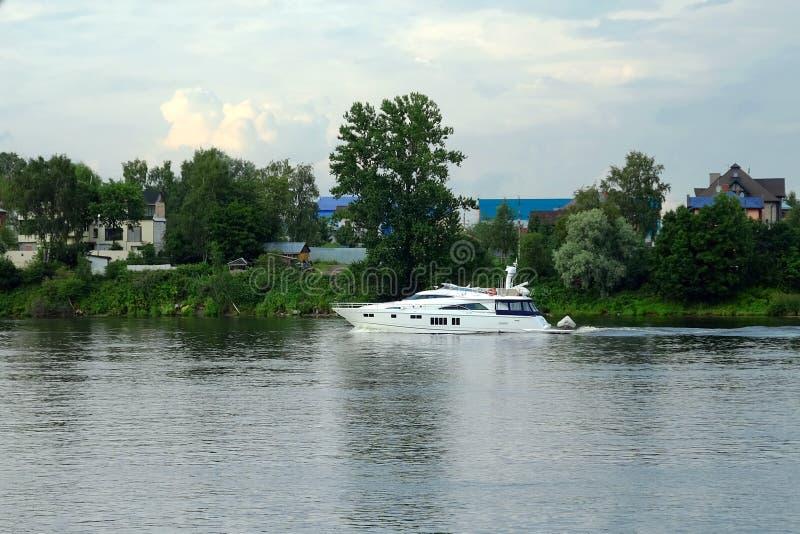 Petersburg Rosja 31 07 2018 hydrofoil przyjemności łodzi w St Petersburg obraz stock