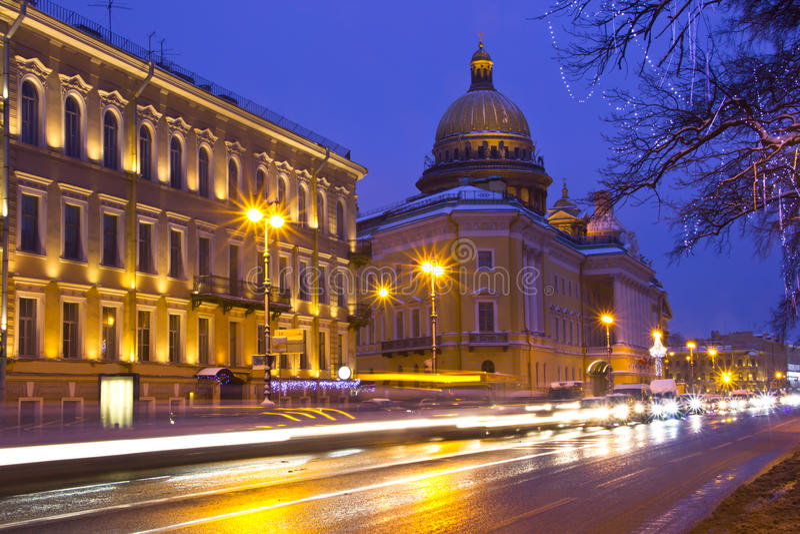 petersburg russia st royaltyfri foto